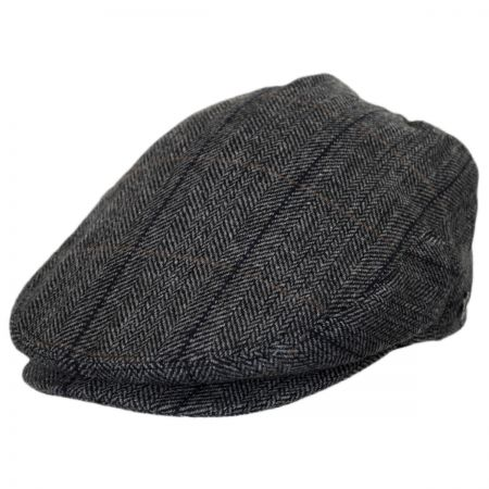 Jaxon Hats Holborn Herringbone Plaid Wool Blend Ivy Cap