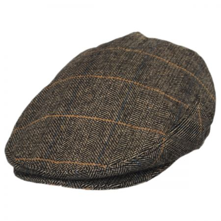 Jaxon Hats Croydon Herringbone Plaid Wool Blend Ivy Cap