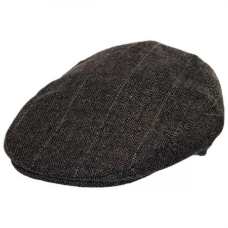 Jaxon Hats Euston Herringbone Plaid Wool Blend Ivy Cap
