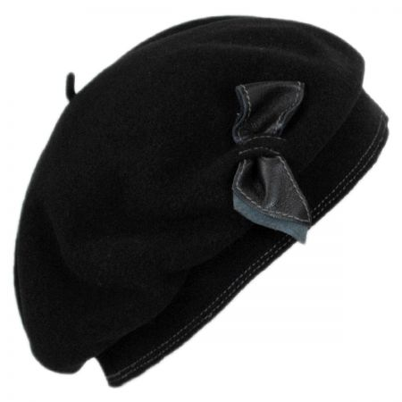 Laulhere Colette Wool Beret with Storage Pouch