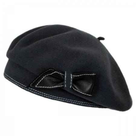 Colette Wool Beret with Storage Pouch alternate view 3