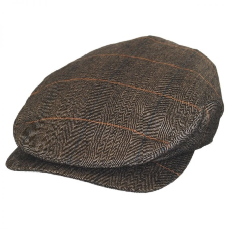 B2B Jaxon Hoxton Herringbone Plaid Wool Blend Ivy Cap