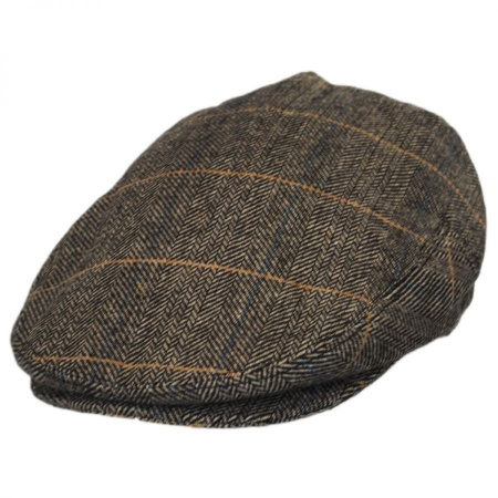 B2B Jaxon Croydon Herringbone Plaid Wool Blend Ivy Cap