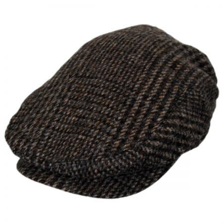 Baskerville Hat Company Wrayburn Plaid Tweed Wool Ivy Cap