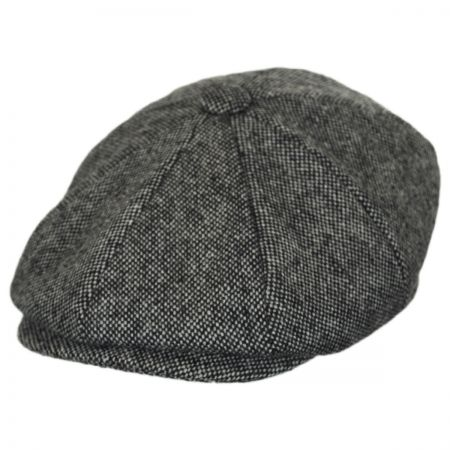 Baskerville Hat Company Basketweave Marl Tweed Wool Newsboy Cap