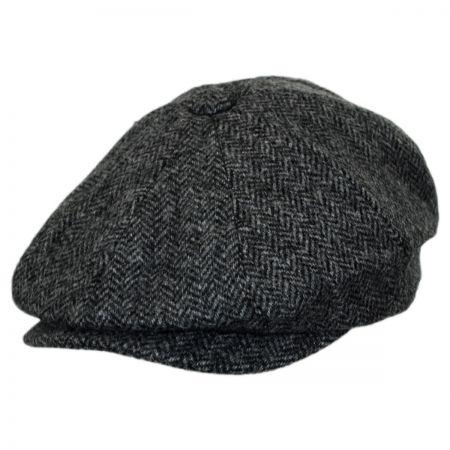 Baskerville Hat Company Oscar Herringbone Wool Newsboy Cap
