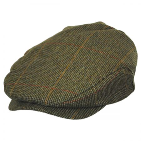 Baskerville Hat Company Winston Checkered Plaid Wool Ivy Cap