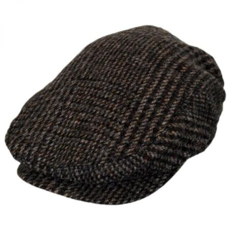 B2B Baskerville Hat Company Wrayburn Plaid Tweed Wool Ivy Cap
