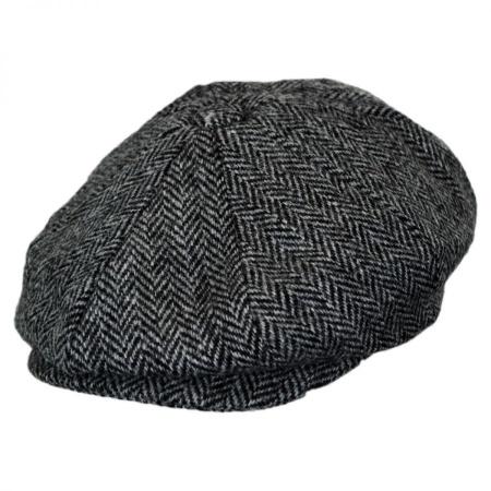 B2B Baskerville Hat Company Holmes Herringbone Wool Newsboy Cap