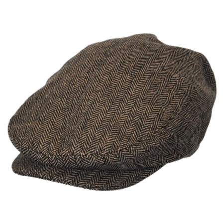 B2B Baskerville Hat Company Dartmoor Herringbone Wool Ivy Cap - Brown/Tan