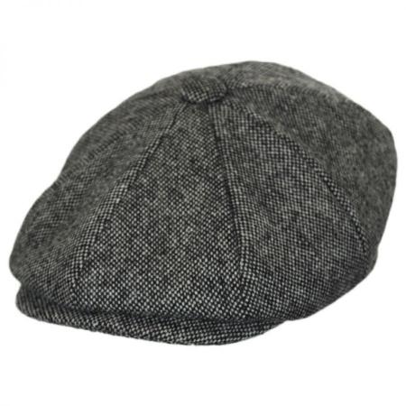 B2B Baskerville Hat Company Basketweave Marl Tweed Wool Newsboy Cap