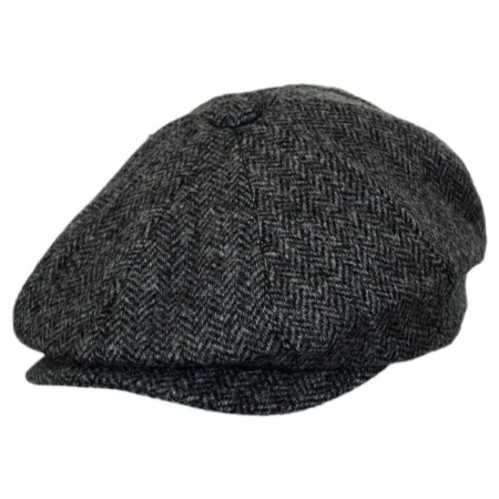 B2B Baskerville Hat Company Oscar Herringbone Wool Newsboy Cap