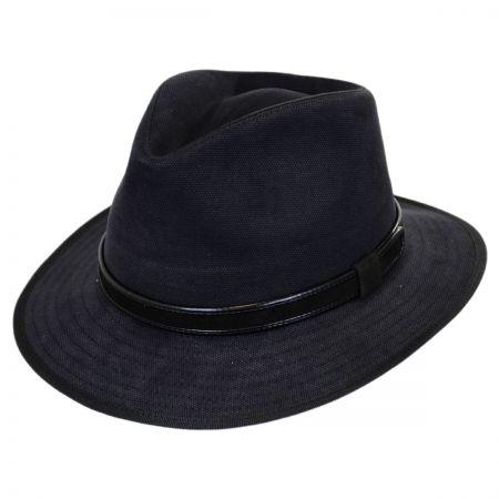 Aspen Italian Cotton Canvas Safari Fedora Hat alternate view 1