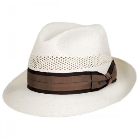 Biltmore Carmel Vented Panama Straw Trilby Fedora Hat