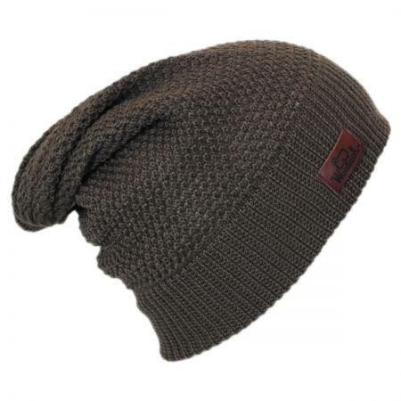 Woolrich Slouchy Knit Wool Blend Beanie Hat