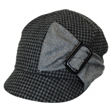 Jeanne Simmons Karly Buckle Bow Houndstooth Newsy Cap