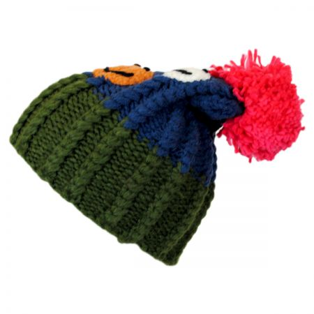 Jeanne Simmons Kids' Smiley Pom Knit Beanie Hat