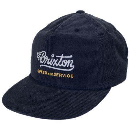 Brixton Hats Mach High Profile Snapback Baseball Cap