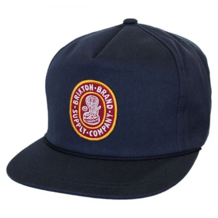 Brixton Hats Pace High Profile Snapback Baseball Cap