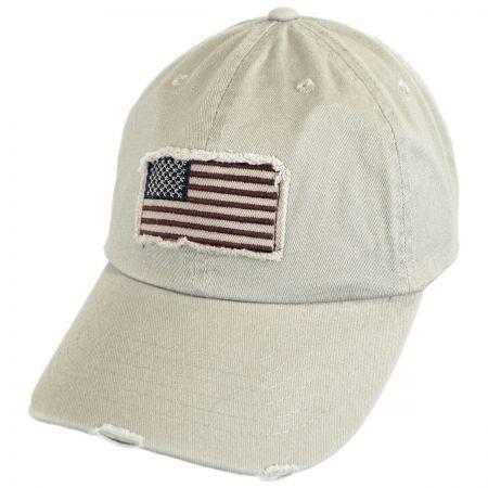 Distressed USA Flag Strapback Baseball Cap Dad Hat alternate view 5