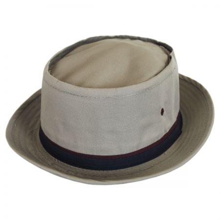 Dorfman Pacific Classic Roll Up Cotton Bucket Hat