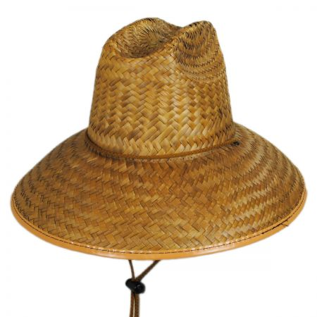 Dorfman Pacific Beach Bum Straw Lifeguard Hat