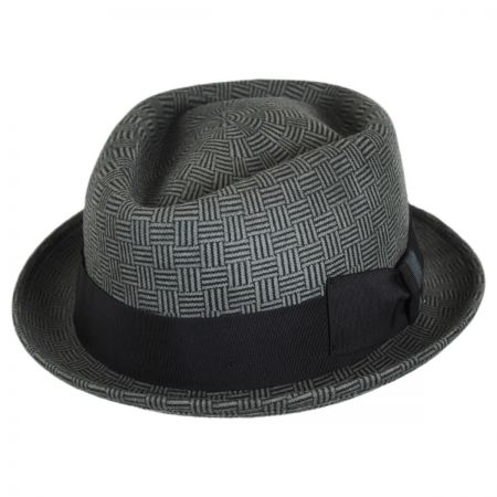 Stefeno Dev Wool Felt Diamond Crown Fedora Hat