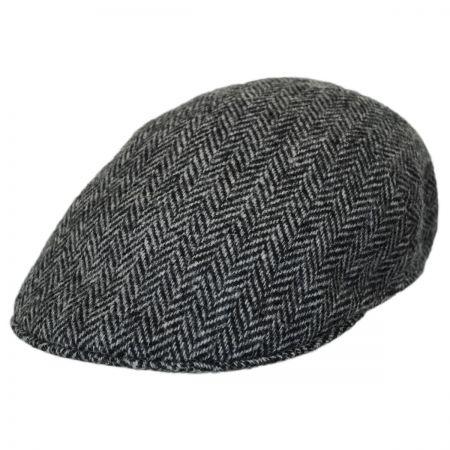 Stefeno Herringbone Harris Tweed Wool Ascot Cap