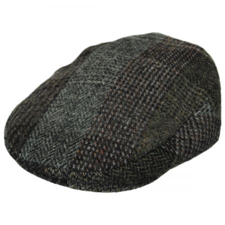Stefano Lauren Plaid Harris Tweed Wool Ivy Cap
