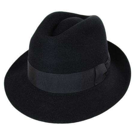 Stefeno Ralph Fur Felt Fedora Hat