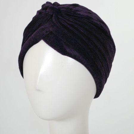 Jeanne Simmons Velvet Poly Turban