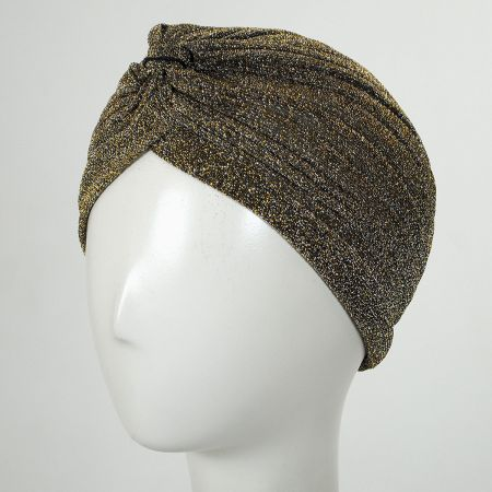 Jeanne Simmons Metallic Poly Turban