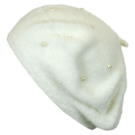 Jeanne Simmons Pearl Angora Beret
