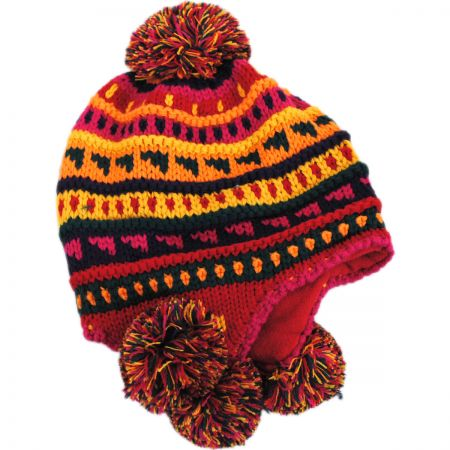 Jeanne Simmons Kids' Pom Knit Trapper Beanie Hat