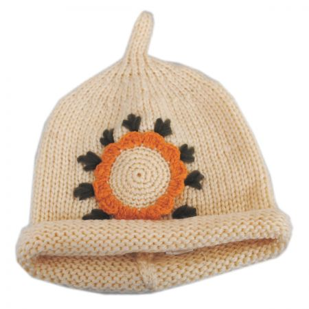 Jeanne Simmons Kids' Sunflower Knit Beanie Hat