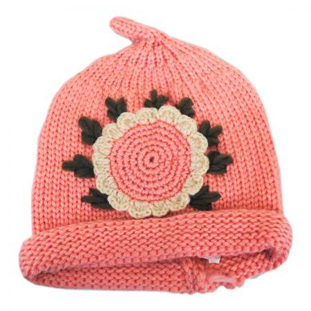 Kids' Sunflower Knit Beanie Hat alternate view 4