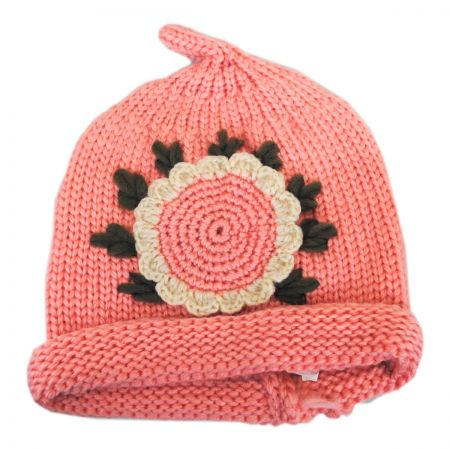Jeanne Simmons Kids' Sunflower Knit Beanie Hat