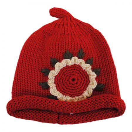 Kids' Sunflower Knit Beanie Hat alternate view 7
