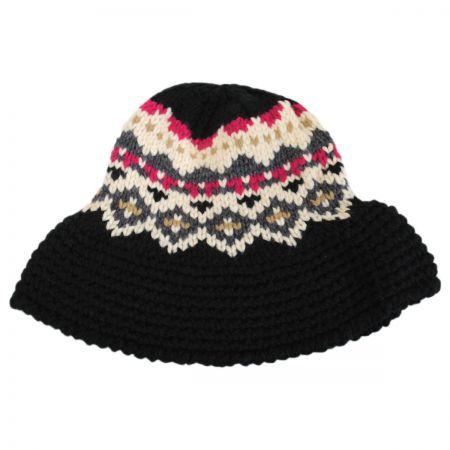 Jeanne Simmons Fairisle Knit Bucket Hat