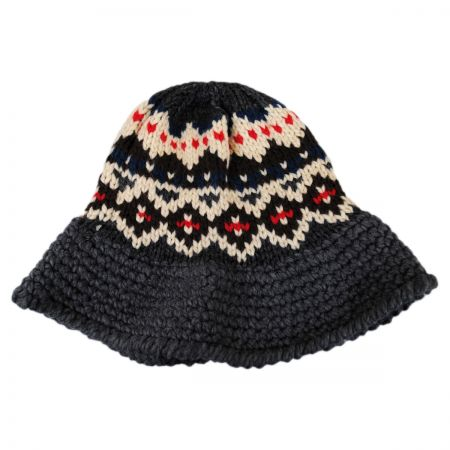 036698665 Fairisle Knit Bucket Hat