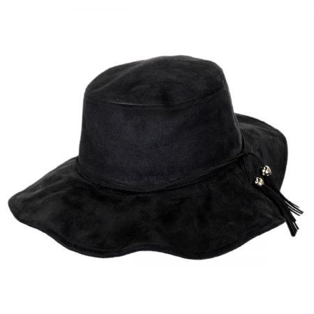 Jeanne Simmons Hippy Vegan Suede Floppy Hat