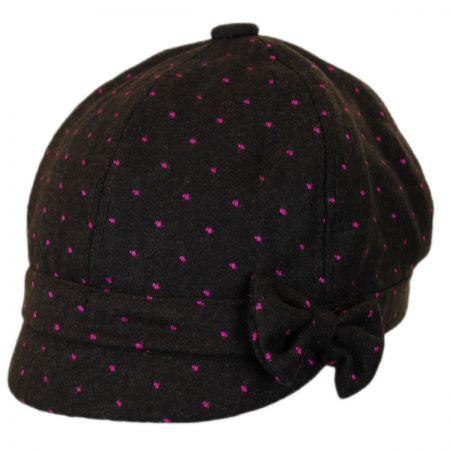 Jeanne Simmons Gaby Dot Wool Blend Newsy Cap