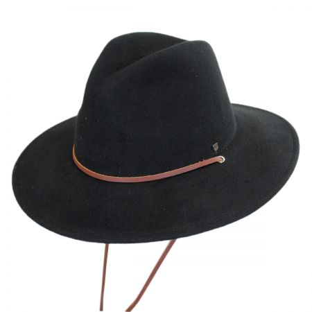 Brixton Hats Field Wool Felt Wide Brim Fedora Hat