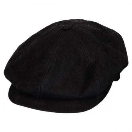 City Sport Caps Matte Nappa Leather Newsboy Cap