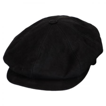 Matte Nappa Leather Newsboy Cap alternate view 9