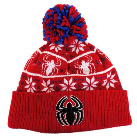 New Era Marvel Comics Spiderman Sweater Knit Beanie Hat