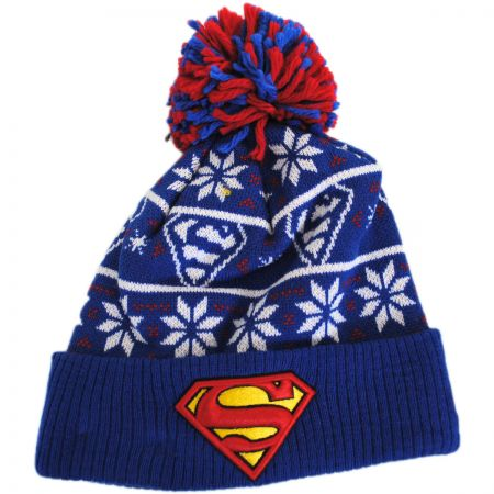New Era DC Comics Superman Sweater Knit Beanie Hat