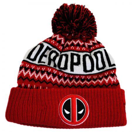 Marvel Comics Deadpool Winter Knit Beanie Hat alternate view 1