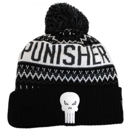 New Era Marvel Comics Punisher Winter Knit Beanie Hat