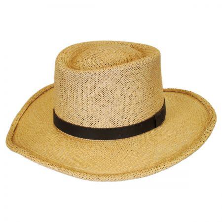 Pantropic Twisted Panama Straw Gambler Hat